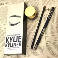 Wholesale 2016 new Arrival Kylie Cosmetics By Kylie Jenner Kyliner In Black Brown with Kylie Eyeliner Gel Kit VS Kylie Lip Gloss