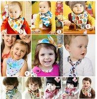 Wholesale 2016 Pretty Baby Organic Cotton Kids Baby Bibs Towel Bandanas Triangle Burp Saliva Infant Toddler Bandana Scarf