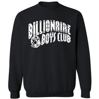 Cheap Wholesale-BILLIONAIRE BOYS CLUB BBC Long sleeve Sweatshirts Men Hip Hop Cotton Hoodies O Neck billionaire Man Tops Hoodies Sweatshirts