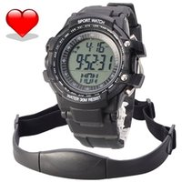 Upper Arm Automatic  Heart Rate Monitor Chest Strap Pedometer Digital Sports Watch with LCD Monitor Exercise Memory Mode Stopwatch Water Resist