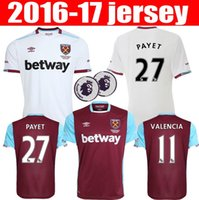 Wholesale 16 West Ham Jerseys United Home Red White LANZINI Shirt PAYET CARROLL SONG ZARATE NOBLE KOUYATE