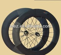 Wholesale carbon bicycle wheels clincher glossy front H Rear rim H spokes hole wheel with Novatec hubs for shimano speed
