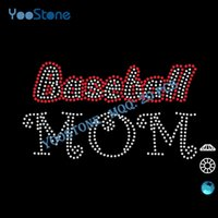 baseball mom t shirts - Dazzle Hot Fix Heat Transfer Baseball Mom Hotfix Rhinestone Transfers Iron On Motif For Decorate t Shirts