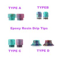 battle bears - Healthy Epoxy Resin Mouthpiece Wide Bore Drip Tip Colorful Art Epoxide Resin drip tips For e cigs TFV8 Kennedy RDA Battle Caps