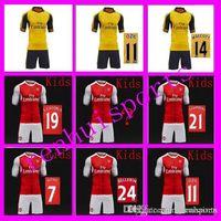 arsenal child - Arsenal Kids Jerseys child teens Shirt WILSHERE OZIL WALCOTT RAMSEY ALEXIS Wholesalers Jersey home away