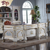 antique wood office furniture - Antique classic writing desk baroque classic study room furniture European style boss office desk