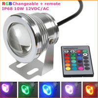 best pool lights - Best Waterproof Led Underwater Light Color Changing RGB LED Pool Pond Fountain Lamp W V RGB Floodlight With Key IR Remote