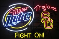 bar fighting - Brand New Lite USC Trojans Fight On Real Glass Neon Sign Beer light X20 quot