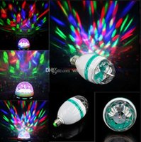 Wholesale New arrive W E27 RGB lighting Full Color LED Crystal Stage Light Auto Rotating Stage Effect DJ lamp Stage Light Bulb