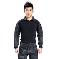 Wholesale Kryptek camouflage Military tactical shirt combat airsoft frog t shirt wargame Hunting clothing