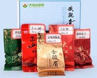 al por mayor bolsita de té del lapsang-5 té chino del oolong del sabor diferente, incluyendo Tieguanyin, Jinjunmei, Lapsang Souchong, Dahongpao, 10 bolsos, envío libre