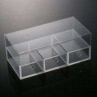 Wholesale Organizer Plexiglass New Anti Scratch Acrylic Makeup Organizer Cosmetic Case Lipstick Holder Box Make Up Transparent Storage Box Drawers