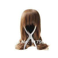 Wholesale Whosale MAYSU Plastic Wig Stand Top Quality Hair Accessories Portable Foldable Wig Holder Support Display Stand