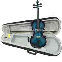 Wholesale N A O M I Acoustic Violin Fiddle Case Bow Rosin BLUE BLACK VIOLIN NEW