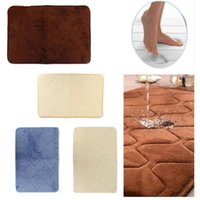 Wholesale Excellent Quality Floor Mat Rug Shower Mat Memory Foam Bath Mats Bathroom Horizontal Stripes Rug Non Slip Bath Mats