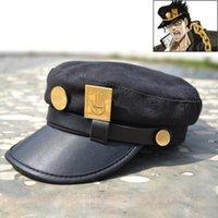 anime animal hats - new arrival fashion japan anime cosplay JOJO Kujo Jotaro hat cute cap for women men