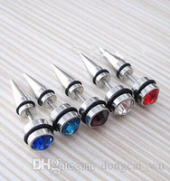 Wholesale Men Body Piercing Earrings L medical titanium earrings and diamond jewelry fashion spread ear puncture