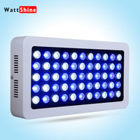 aquarium tank hoods - Newest W aquarium light Blue White LEDs Coral Reef Grow Light High Power Fish Tank Aquarium Light Lamp reef aquarium marine