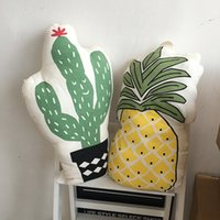 baby pineapple plant - Kawaii bed decoration baby cactus plant pineapple fruit cushion toy pp cotton pillow home sofa decoration kids birthday gift