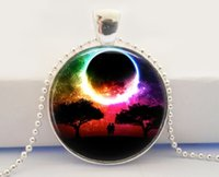 altered art jewelry - Handcrafted Jewelry Glass Photo Cabochon Necklace Eclipse Altered Art Pendant Photo Pendant Glass Dome Pendant