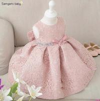 big girl costumes - New Born Baby Clothes Girl s Birthday Dressy High Grade Girl Sleeveless Diamond Big Bowknot Vest Dress Kids Costume Lovely Child Dress