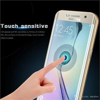 anti shock body - Transparent Clear D Full Cover Edges TPU LCD Screen Protector For Samsung Galaxy S7 S7 Edge S6 S6 Edge Anti shock Protective Film Free DHL