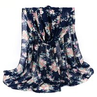 women muslim scarf - Fashion women s printed chiffon scarf Muslim Hijab New design long soft High grade hijab x70cm colors