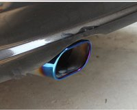automobile tips - For VW Volkswagen Lavida Stainless Steel Car Automobiles Exhaust Muffler Tip Pipe Auto Accessories