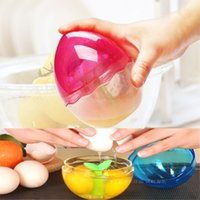 Wholesale Creative manual egg cracker beater eggs Household mini hand mixer Whisk Mixer Stirrer Eggbeater kitchen accessories