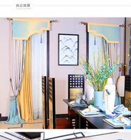 Wholesale New Chinese style linen material pure color curtain