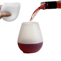 Wholesale New Pattern Food Level Silica Gel Red Glass Environmental Protection Silica Gel Grape Wine Glass Cocktail Wine Glass Beer Cup