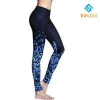 Wholesale 2016 Fashion Women butterfly Leisure YOGA Running Sport Dancing Pants Elastic Leggings ladies Body building Fitness Trouser