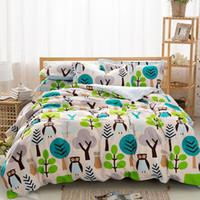 bedding set clearance - 2016 Clearance Sale Queen size Owl cartoon duvet cover set cotton bedding set comforter case bedsheet pillow sham