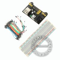 Wholesale V5V MB102 Breadboard power module MB points Solderless Prototype Bread board kit Flexible jumper wires