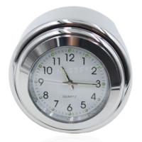 aluminum clock dial - New quot quot Waterproof Aluminum Alloy Motorcycle Handlebar Chrome White Dial Clock For Yamaha Virago Road Star White Surface