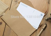 Wholesale Classic Retro Vintage Brown Plain Kraft Paper Envelopes For Postcard Or Gift Wrapping x cm