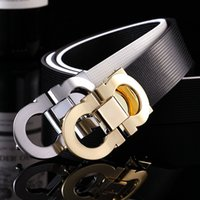 Wholesale designer belts men high quality mens belts Smooth buckle leather belt luxury belts for women feragamo belt feragamo belt With logo