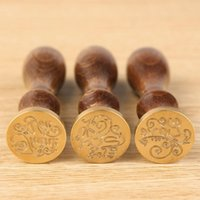 Wholesale Vintage Greetings Vintage Stamp Wax Seal Mini Sealing Copper Head Seal Stamping Scrapbooking
