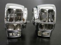 Wholesale 2pcs Chrome Switch Housings Cover For Harley FLTCU FLHTCU FLTR FLHRCI FLHR FLHT switch kit