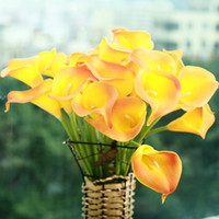 bamboo plants sale - 10pcs Mini Size PU Calla Lily Real Touch Flower Artificial Flowers for Wedding Decoration Party Flower for Gift Home Hot Sale