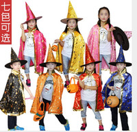 Wholesale Children Boy Costumes for Halloween Party stars party Costumes colors Captain Capes Cloaks Star Wars Capes and caps set