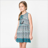 american vintage clothing wholesale - Nation Style Big Kids Girls Print Vintage Floral Dresses Teenager Fashion Dress Junior Bohemian Chistmas Clothing Babies Clothes