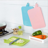 Wholesale new Kitchen Accessories Cooking Tools Flexible Plastic Cutting Board Food Slice Cut Chopping Block new cute frosted board chopping board
