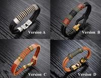 Wholesale Fashion European American Genuine Leather Bracelet Retro Leather Charm Bracelet Rope Bronze Buckles Mult Styles Mix order for Men and Women