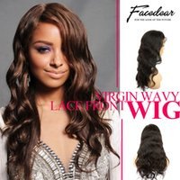 Wholesale Glueless Lace Front Wigs Wavy Brazilian Celeb Human Hair With Adjustable Stretch And Combs Breathable Wigs Cap With Baby Hair