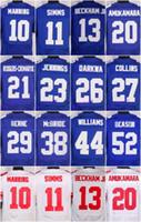 beckham football - 2016 New York football jersey Giants Soccer rugby jerseys Manning Beckham Jr Strahan Cruz Blue White freeshipping