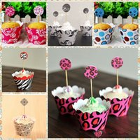 Wholesale Freeshipping Baking DIY sets style Paper Cupcake Toppers Wrap Kitchen Toys Mixed Styles Kids Girls Boys Gifts Party Decoration