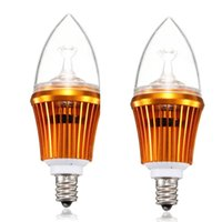 aluminium candle holder - 2pcs Aluminium Housing E14 Holder High Power LED Candle Light Bulb Chandelier Lighitng Source AC85 V Warm White