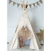 Wholesale Free Love New design kids play tent indian teepee children playhouse children play room teepee