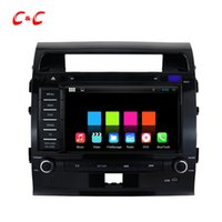 Cheap 1024X600 Quad Core Android 5.1.1 Car DVD Player for Toyota Land Cruiser NEW with Radio GPS Navi Wifi DVR Mirror Link BT+Free Gifts